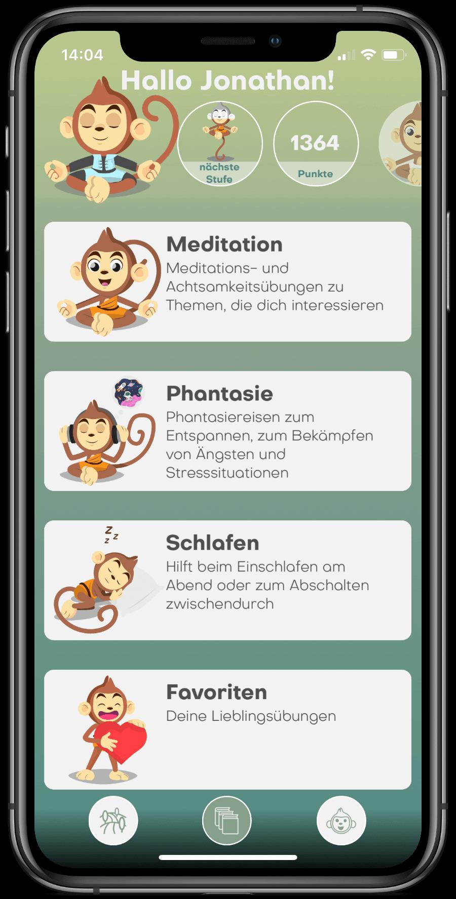 BuddhaBoo App Bibliothek Meditation, Phantasiereisen, Schlafgeschichten auf iPhone X
