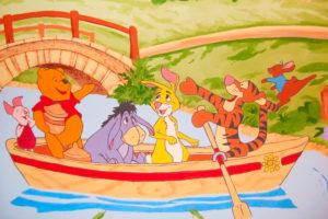 Winnie der Pooh im Boot mit deinen Freunden