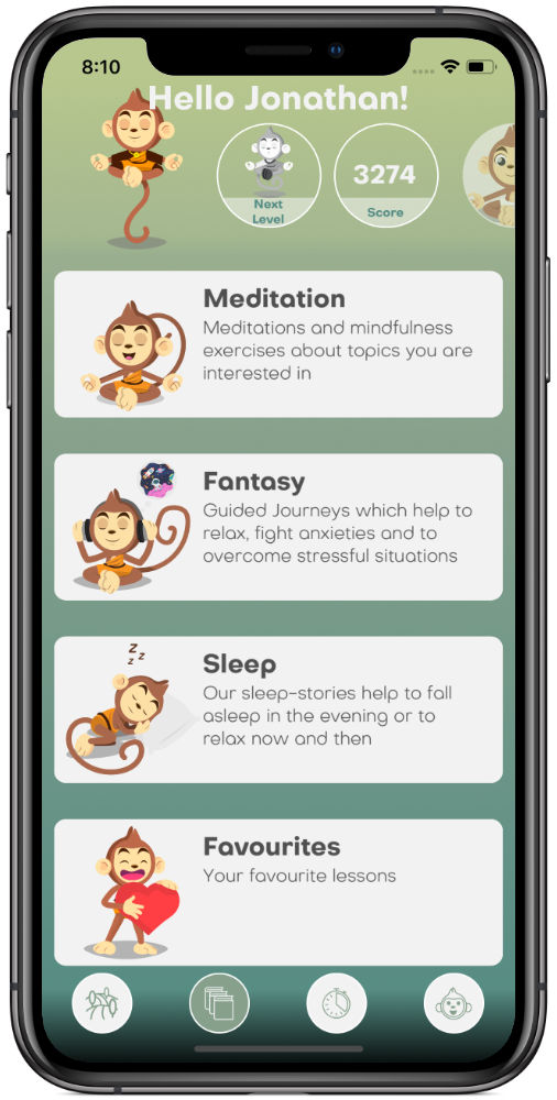BuddhaBoo-App Library Meditations, Guided Journeys, Sleep-Stories on iPhone X