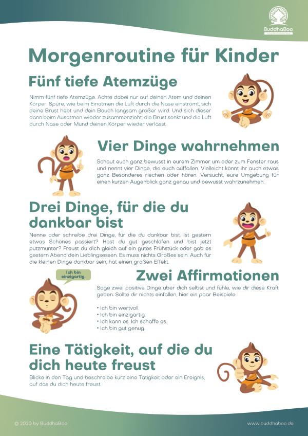 Die BuddhaBoo Morgenroutine für Kinder - 5 Schritte für einen guten Start in den Tag